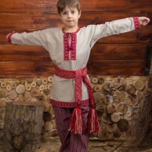 """Детская рубаха """"Этно"""" небелёная"""