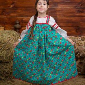 Детский костюм бирюзовый