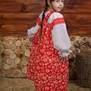 Детский костюм красный