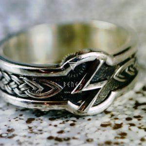 Кольцо с рунами Футарка