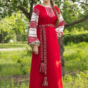"""Платье """"Этно"""" красное"""