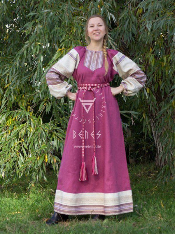 """Платье """"Этно"""" розовое"""