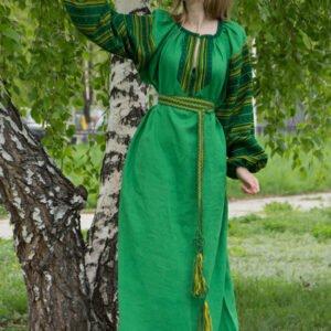 """Платье """"Этно"""" зелёное"""