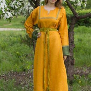 """Платье """"Хельга"""" жёлтое"""