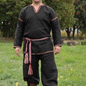 Рубаха в русском стиле чёрная