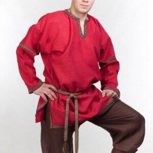 Рубаха в русском стиле красная