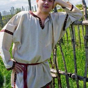 Рубаха в русском стиле небелёная