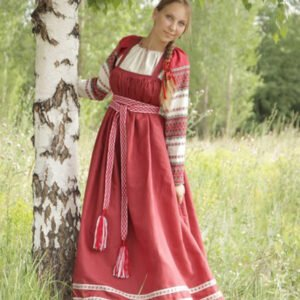 Русский народный костюм бордовый