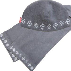 """Комплект """"Обережный"""" серый: шапка + шарф"""