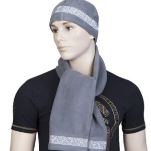 """Комплект """"Рысич"""" серый: шапка + шарф"""