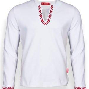 """Рубашка с длинным рукавом """"Полрепья"""" белая"""
