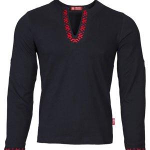 """Рубашка с длинным рукавом """"Полрепья"""" чёрная"""