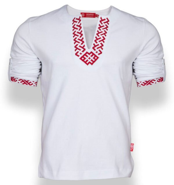 """Рубашка с длинным рукавом """"Сила"""" белая"""