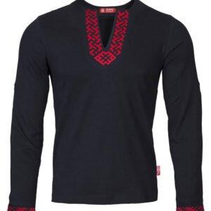 """Рубашка с длинным рукавом """"Сила"""" чёрная"""