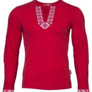 """Рубашка с длинным рукавом """"Сила"""" красная"""