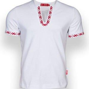 """Рубашка с коротким рукавом """"Полрепья"""" белая"""