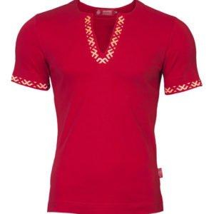 """Рубашка с коротким рукавом """"Полрепья"""" красная"""