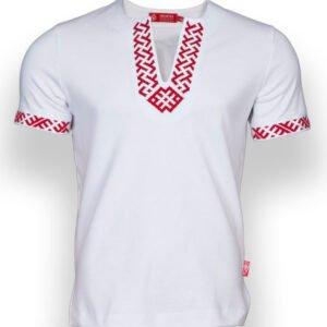"""Рубашка с коротким рукавом """"Сила"""" белая"""