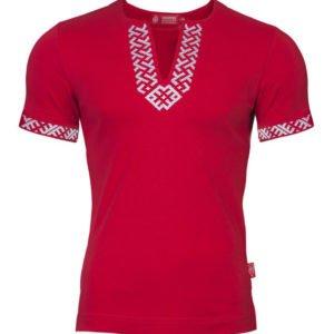 "Рубашка с коротким рукавом ""Сила"" красная"