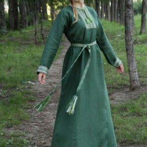 """Платье """"Берегиня"""" тёмно-зелёное"""