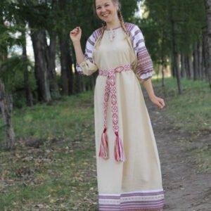 """Платье """"Лада"""" бежевое"""