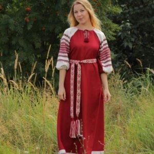 """Платье """"Лада"""" бордовое"""