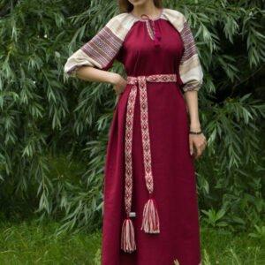 "Платье ""Лада"" вишнёвое"