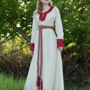 """Платье """"Варяжское"""" небелёно-бордовое"""