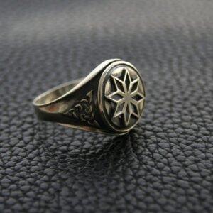 """Перстень """"Алатырь"""" с узором"""