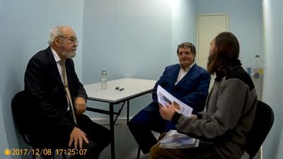 Сергей Салль и Валерий Чудинов. Беседа перед лекцией 12.11.2017