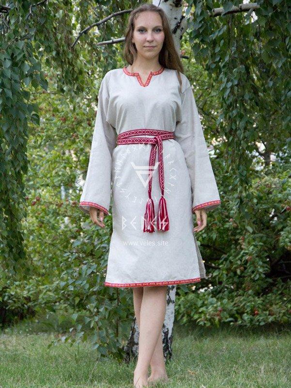 Женская славянская рубаха своими руками 28